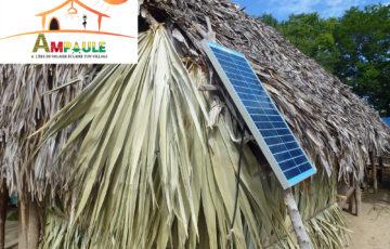 Grâce à 30 panneaux solaires de 200 watts, 30 foyer auront accès à l'électricité  Coût : 15 000 eros